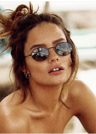 Солнцезащитные очки черные стеклянные ray ban овальные сонцезахисні окуляри чорні узкие