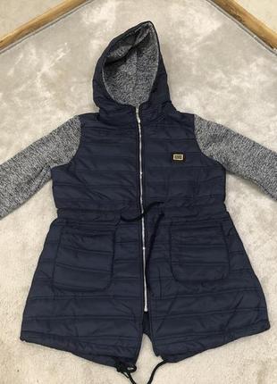 Куртка женская  с трикотажными рукавами