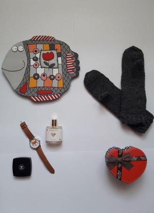 """Сірі рукавички - варішки в""""язані ручна робота"""