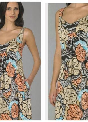 Diane von furstenberg свободное платье сарафан шелк джерси 46 48