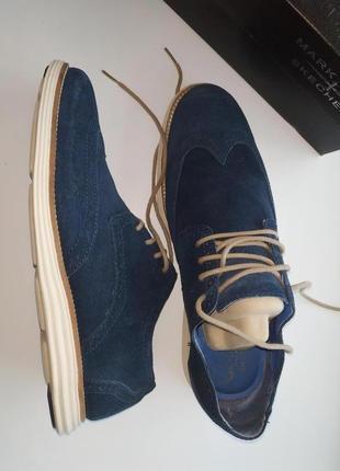 Замшевые туфли броги mark nason, usa, 45 размер, 29 см