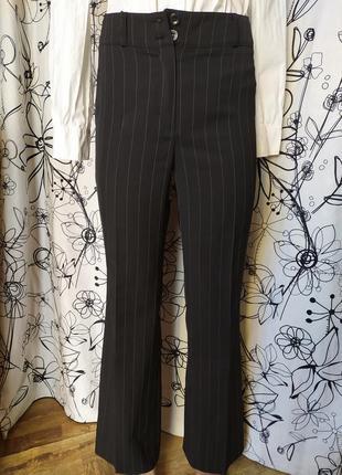 Весенние штаны брюки высокая посадка в полоску