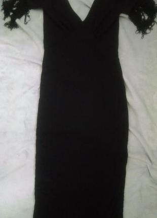 Asos платье миди с бахромой