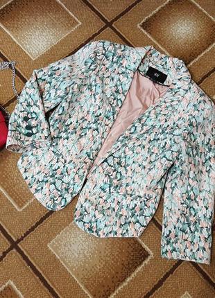 Крутой пиджак жакет принт h&m