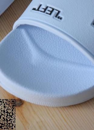 Белоснежные шлепки на плоской подошвой с рисунками off(right/left)4 фото
