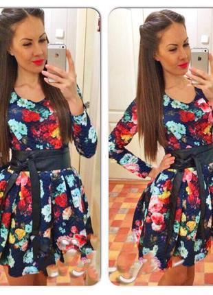 2f15de4474e Яркое тёплое платье с пышной юбкой