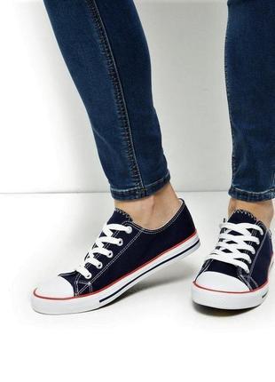 Оригинальные синие кеды new look