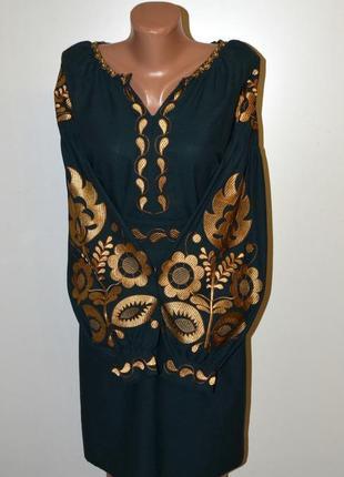 Жіноча вишиванка вышиванка сукня з вишивкою в стилі бохо розмір 48