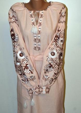 """Вишиванка """"бохо"""" вышиванка сукня з вишивкою розмір 44"""