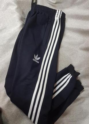 Штаны adidas спортивные брюки женские зауженные на манжете унисекс