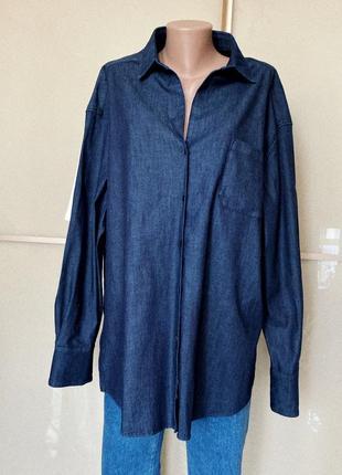 Джинсовая рубашка удлиненная max mara оригинал