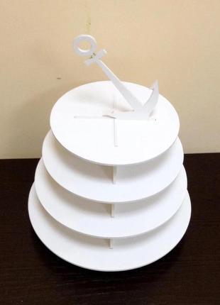 """Подставка """"якорь"""" под макаруны и кексы, торты.3 фото"""