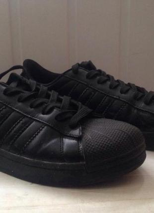 Кроссовки adidas superstar чёрные