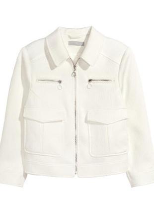 Белая куртка h&m, 38