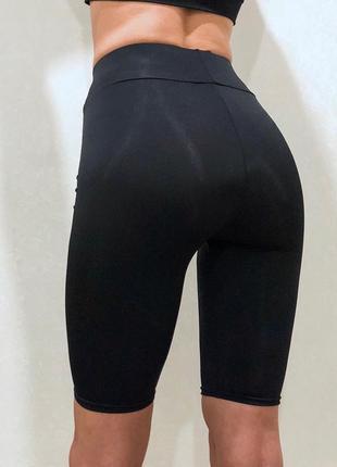Шорты велосипедки женские черные2 фото
