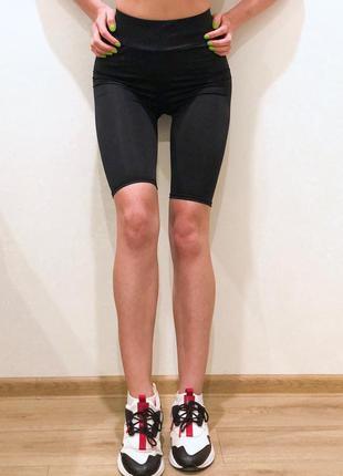 Шорты велосипедки женские черные1 фото