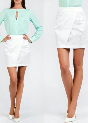 Белая юбка love republic
