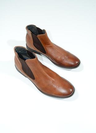 Мужские кожаные туфли (челси) ботинки bugatti