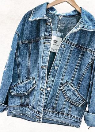 Шикарный джинсовый пиджак, джинсовка, коттоновый пиджак