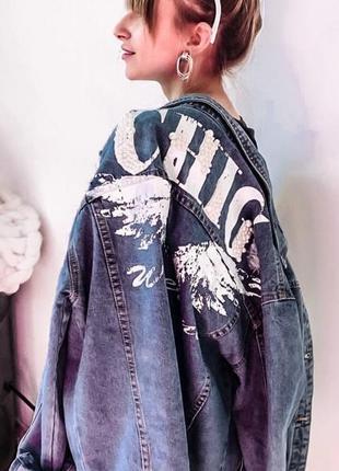 Шикарный джинсовый пиджак, джинсовка, коттоновый пиджак2 фото