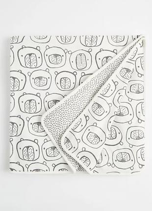 Двусторонний котоновый пледик от mac&moon, англия