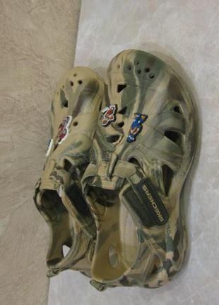 Резиновые сандалии skechers