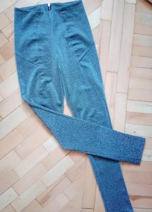 Блестящие нарядные штаны лосины люрекс h&m 34/4/4/16/64a