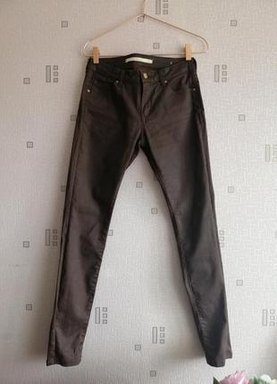 Шоколадные брюки с напылением