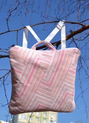 Тканевой слинг рюкзак сумка для девочки