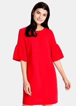 Яркое нарядное красное платье ostin