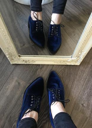 Шикарные бархатные туфли clarks
