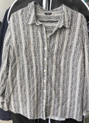 Льняная рубашка m&co