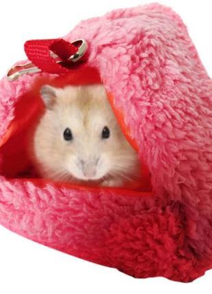 Маленький туннельный гамак лежак для хомяка