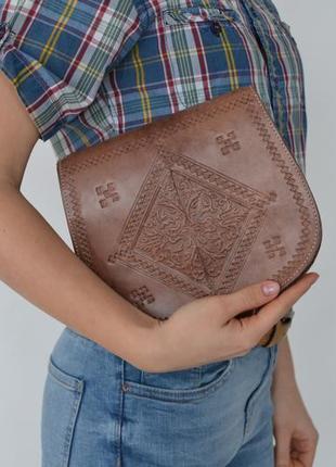 Этническая кожаная сумка