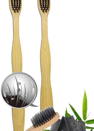 Натуральная бамбуковая зубная щетка,деревянная щетка, usa