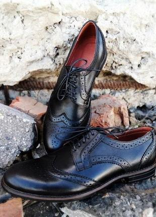 Мужские кожанные туфли броги натуральна кожа. размеры 40-45