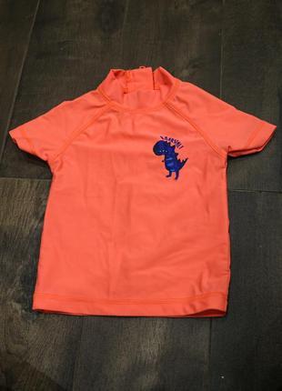 Солнцезащитная футболочка для купания от next, 6-9 мес. идеал