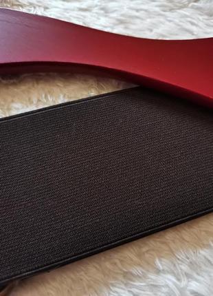 Пояс ремень резинка корсет коричневый