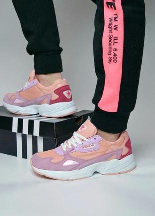 Кроссовки adidas falcone в розовом цвете (36-41)