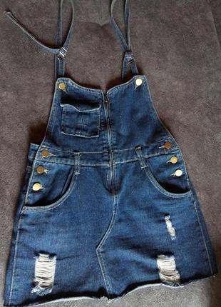 Джинсовая юбка,комбинезон