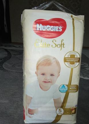 Памперсы huggies elite soft 5