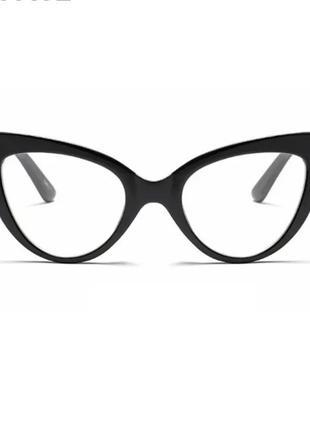 Женские винтажные  очки  классические  кошачий глаз киски чёрная оправа новые