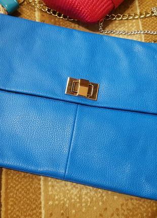 Синий клатч сумка daniele patrici