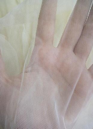Ткань отрез сетка молочного цвета2 фото