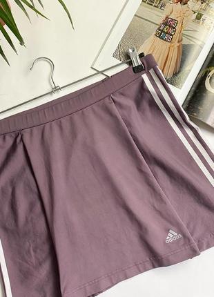 Спортивная юбка adidas красивого приглашённого фиолетового цвета! спідниця