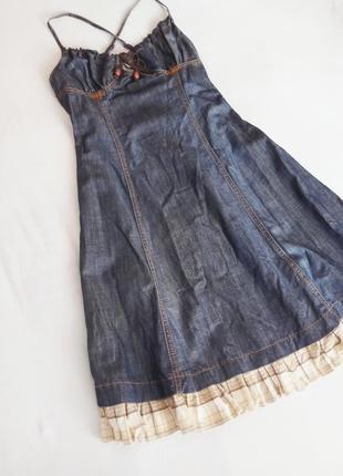 Платье, джинсовый сарафан.