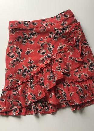 Летняя юбка с рюшами topshop