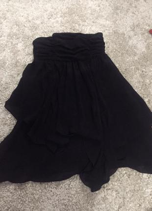 Красивое черное короткое вечернее платье asos
