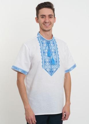 Чоловіча вишита сорочка з коротуим рукавом