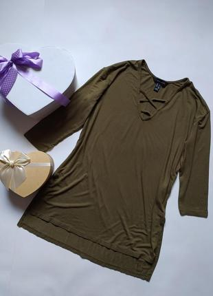 Трикотажная блуза футболка - рукава три четверти